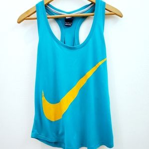 Nike | Blue and Gold Muscle Tank Top